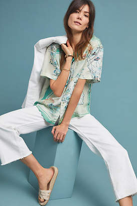 Burning Torch Vacation Silk Blouse