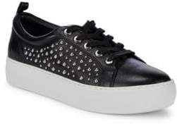 J/Slides Studded Leather Platform Sneakers