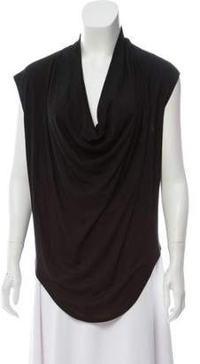 Helmut Lang HELMUT Sleeveless Cowl-Neck Top