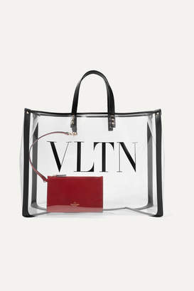 a3437e9164b2 Valentino Garavani Grande Plage Large Leather-trimmed Printed Pvc Tote -  Clear