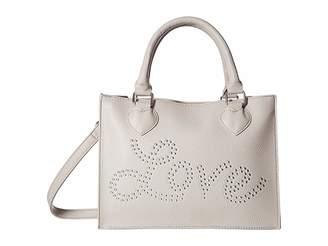 Betsey Johnson Love Stud Satchel Satchel Handbags