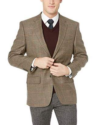 Haggar Men's Houndstooth Plaid Lambswool Classic Fit Sport Coat