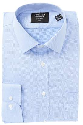 Nordstrom Non-Iron Trim Fit Textured Solid Dress Shirt