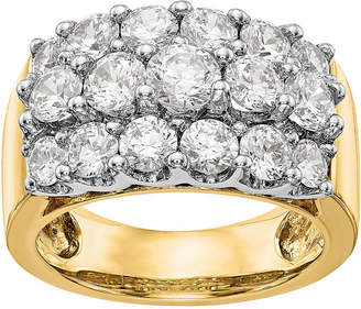 MODERN BRIDE Womens 5mm 2 3/4 CT. T.W. Genuine White Diamond 14K Two Tone Gold Round Wedding Band