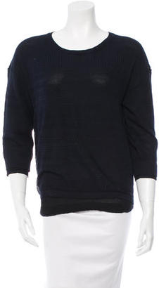 Inhabit Pointelle Crew Neck Sweater w/ Tags $95 thestylecure.com