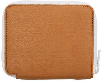 Marni Brown and White Zip Around Wallet