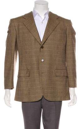 Luciano Barbera Plaid Wool Sport Coat