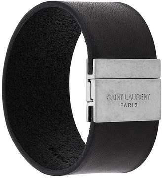 Saint Laurent logo cuff