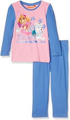 Nickelodeon Girl's Paw Patrol Skye Pyjama Set, Multicolor (Blue/Pink),ears