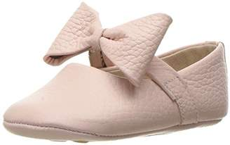 Elephantito Girls' Baby Ballerina with Bow Crib Shoe