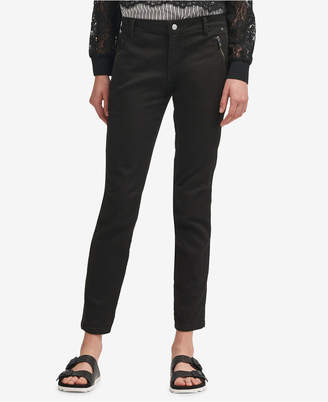 DKNY Zip-Pocket Skinny Chino Pants