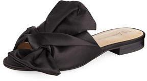 Neiman Marcus Nineya Satin Knotted Sandal