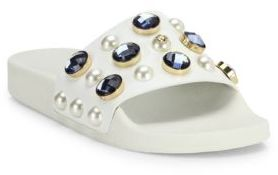 Tory Burch Vail Jeweled Leather Slides $225 thestylecure.com