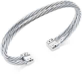 Macy's Diamond Pavé Cuff Bracelet (1/5 ct. t.w.) in Sterling Silver