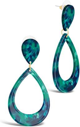 Sterling Forever Resin Teardrop Earrings