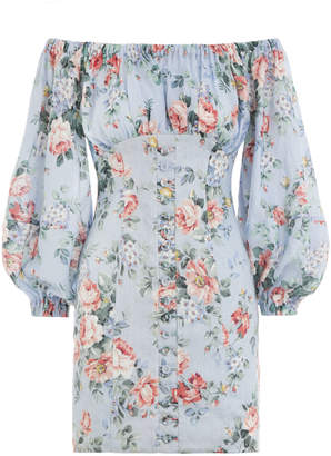 Zimmermann Bowie Off Shoulder Dress
