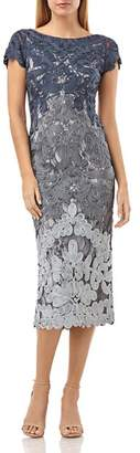 JS Collections Embroidered Ribbon Dress
