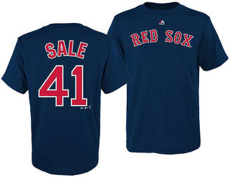 Majestic Chris Sale Boston Red Sox Official Player T-Shirt, Big Boys (8-20)