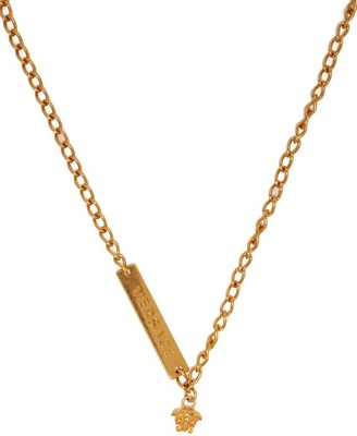 Versace Medusa Charm Necklace - Womens - Gold