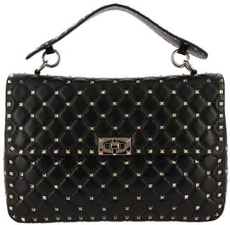 Valentino GARAVANI Handbag Rockstud Spike Large Bag In Genuine Leather With Micro Studs And Sliding Shoulder Strap