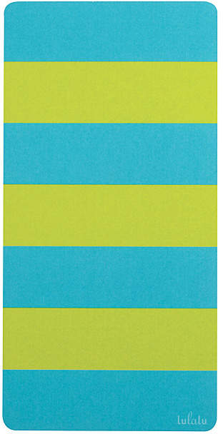 Green & Blue Rugby Stripe Notepad - Set of Two