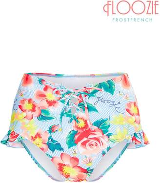 Next Womens Floozie Rose Pinstripe High Waist Bikini Pant