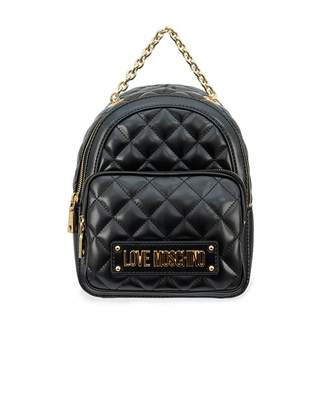 Love Moschino Accessories Quilted Chain Detail Backpack