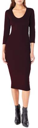 Michael Stars Ruched Midi Dress