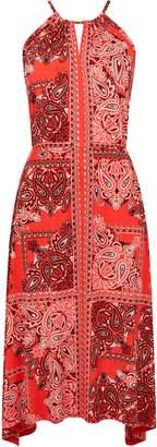 WallisWallis Pink Paisley Print Midi Dress