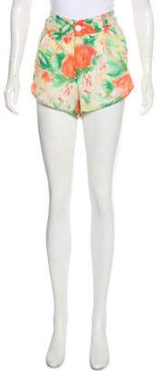 Alice + Olivia Patterned Mini Shorts