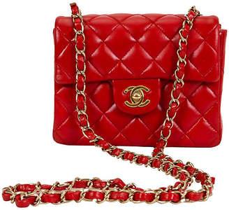 One Kings Lane Vintage Chanel Red Mini Classic Flap Bag