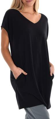 Freda Paper Label Lucent Loose-Fit Tunic