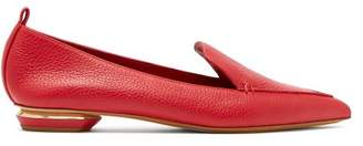 Nicholas Kirkwood Beya Grained Leather Loafers - Womens - Red