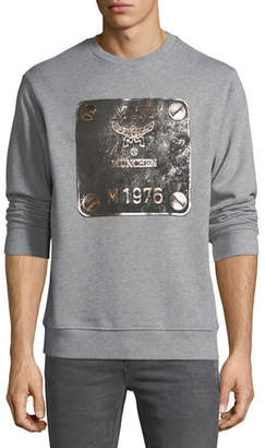 MCM Men's Logo Plate Graphic Sweatshirt