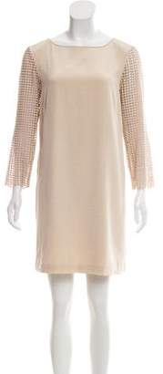 Tibi Eyelet Long Sleeve Dress