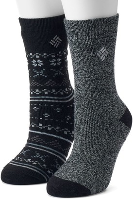 Columbia Women's 2-pk. Fairisle Thermal Crew Socks