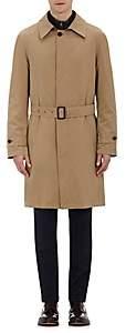 Barneys New York Men's Belted Twill Coat-Beige, Tan