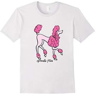 Pink Poodle Poodle Town Fancy T-Shirt