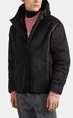 Isaora Men's Chamonix Shearling-Detailed Down Puffer Jacket - Black