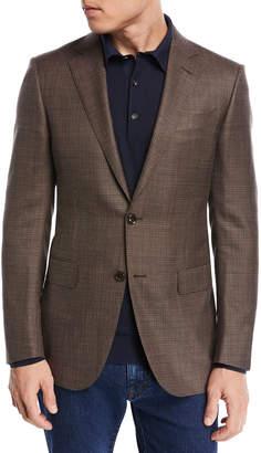 Ermenegildo Zegna Textured Wool Triblend Blazer, Brown
