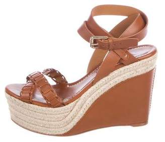 Ralph Lauren Leather Platform Wedges