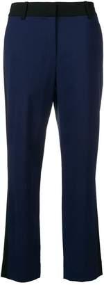 Diane von Furstenberg stripe trim trousers