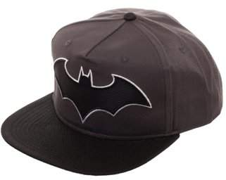 DC Comics Batman Boy's Batman Snapback Hat with Woven Batman Emblem and Flat Bill