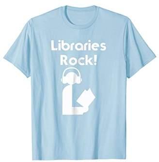 Libraries Rock Summer Reading T-Shirt Book Lovers Librarians