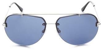 Tom Ford Men's Brad Brow Bar Aviator Sunglasses, 60mm