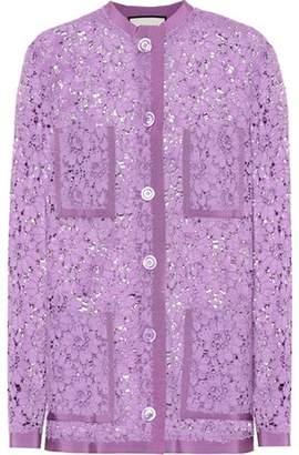 Gucci Cotton-blend lace cardigan