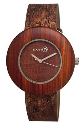 Earth Women's 'Ligna' Quartz Wood and Leather Watch