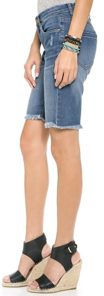 Blank Rolled Boyfriend Shorts