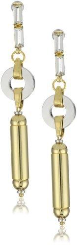 """Lee Angel Valerie"""" Swarovski Crystal Baguettes Dangle Link Earrings"""
