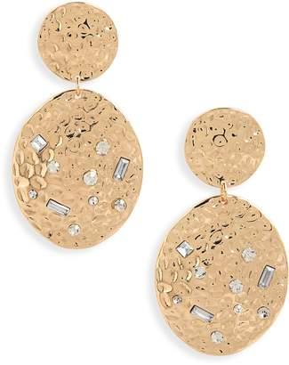 BP Hammered Metal Statement Earrings